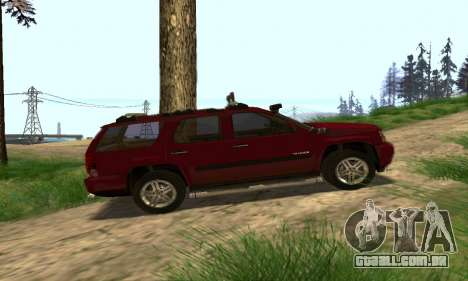 Chevrolet Tahoe Final para GTA San Andreas vista superior