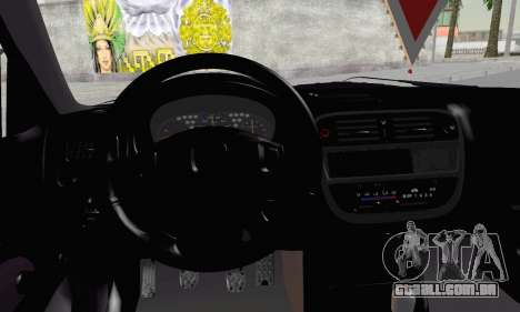 Honda Civic V Type EMR Edition para GTA San Andreas traseira esquerda vista