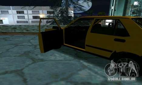 Tofas Sahin Taxi para GTA San Andreas vista superior