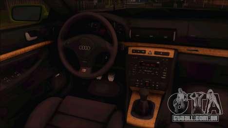 Audi S4 Fatlace para GTA San Andreas traseira esquerda vista