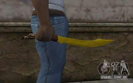 Ouro faca para GTA San Andreas terceira tela