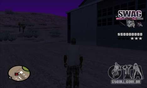 C-HUD Espaço SWAG para GTA San Andreas terceira tela