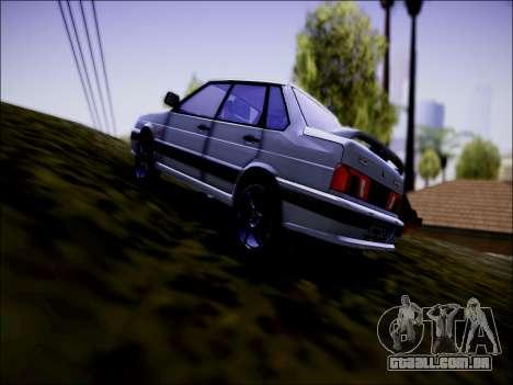 VAZ 2115 para GTA San Andreas traseira esquerda vista