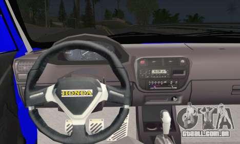 Honda Civic 34 TS 9640 INDIGO para GTA San Andreas traseira esquerda vista