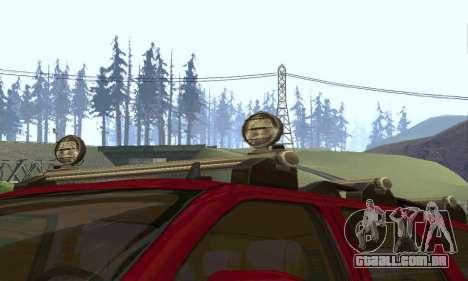 Chevrolet Tahoe Final para GTA San Andreas vista interior