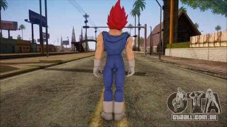 Vegeta Dios Skin para GTA San Andreas segunda tela