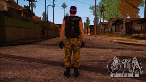 Guerilla from Counter Strike Condition Zero para GTA San Andreas segunda tela