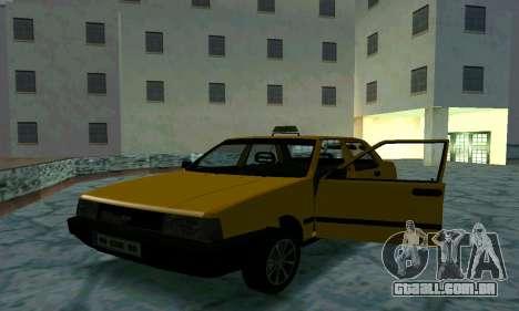 Tofas Sahin Taxi para GTA San Andreas vista inferior