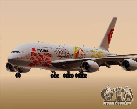 Airbus A380-800 Air China para GTA San Andreas vista inferior