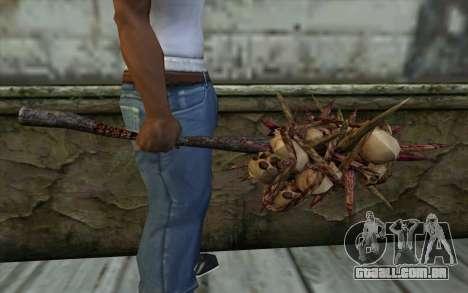 Spyked Zombie Skull Bat From Resident Evil 5 para GTA San Andreas terceira tela