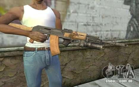 AK-74 Para garantir a nossa para GTA San Andreas terceira tela