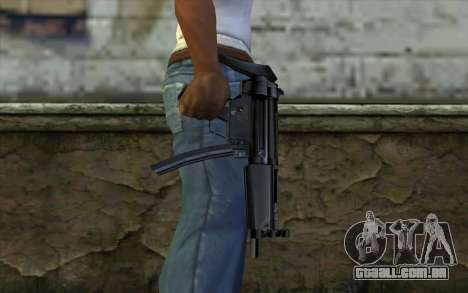 Retextured MP5 para GTA San Andreas terceira tela