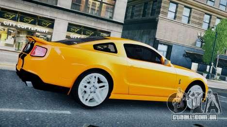 Ford Shelby Mustang GT500 2011 v1.0 para GTA 4 traseira esquerda vista