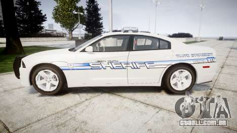 Dodge Charger RT [ELS] Liberty County Sheriff para GTA 4 esquerda vista