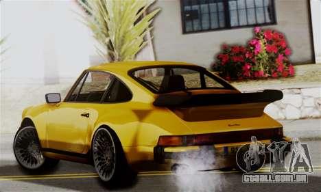 Porche 911 Turbo 1982 para GTA San Andreas esquerda vista