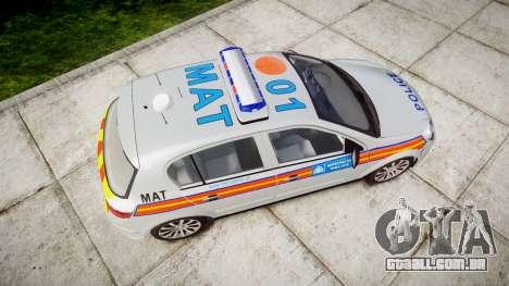 Vauxhall Astra 2010 Metropolitan Police [ELS] para GTA 4 vista direita