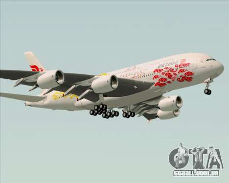 Airbus A380-800 Air China para GTA San Andreas traseira esquerda vista
