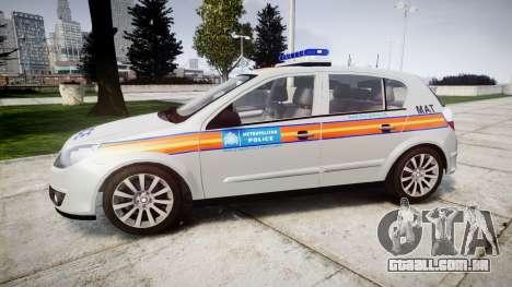 Vauxhall Astra 2010 Metropolitan Police [ELS] para GTA 4 esquerda vista