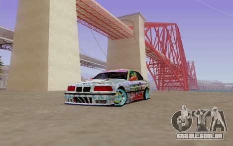 BMW E36 Bridgstone para GTA San Andreas esquerda vista
