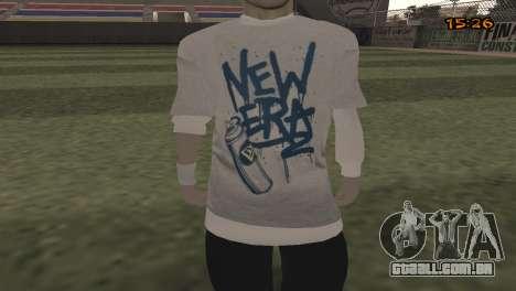 Tracer Skin New Era para GTA San Andreas terceira tela