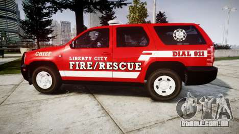 Chevrolet Tahoe Fire Chief [ELS] para GTA 4 esquerda vista