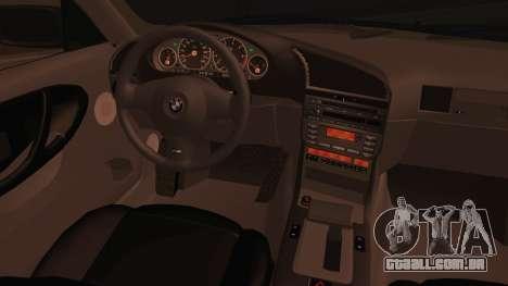 BMW M3 E36 Cabrio 34 DAT 29 para GTA San Andreas traseira esquerda vista