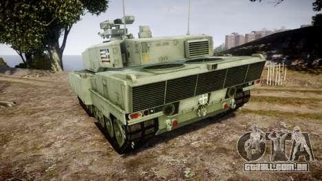 Leopard 2A7 GR Green para GTA 4 traseira esquerda vista