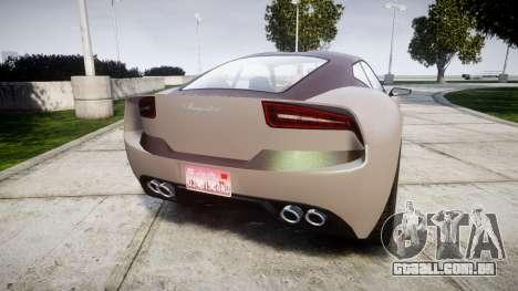 GTA V Lampadati Furore GT para GTA 4 traseira esquerda vista