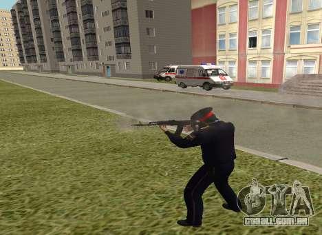 O sargento da polícia para GTA San Andreas terceira tela