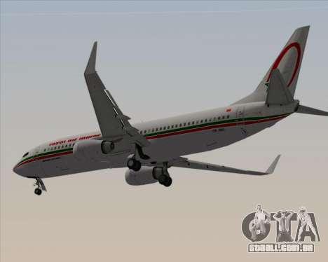 Boeing 737-8B6 Royal Air Maroc (RAM) para GTA San Andreas vista traseira