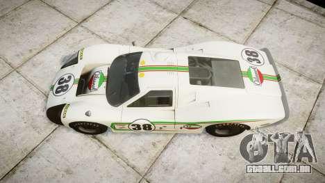 Ford GT40 Mark IV 1967 PJ Oilzanol 38 para GTA 4 vista direita