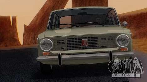 ВАЗ 2101 Estoque final v3.0 para GTA San Andreas traseira esquerda vista