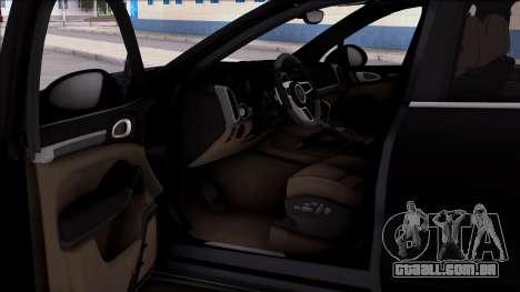 Porsche Cayenne Hybrid 2015 para GTA San Andreas vista direita