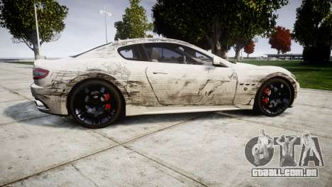 Maserati GranTurismo S 2010 PJ 4 para GTA 4 esquerda vista