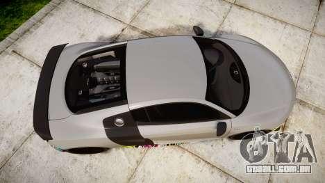 Audi R8 LMX 2015 [EPM] Sticker Bomb para GTA 4 vista direita