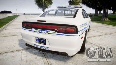 Dodge Charger RT [ELS] Liberty County Sheriff para GTA 4 traseira esquerda vista