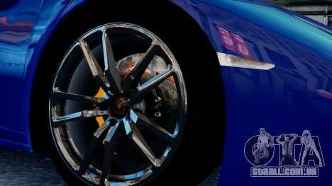 Lamborghini Huracan LP610-4 from Horizon 2 para GTA 4 vista de volta