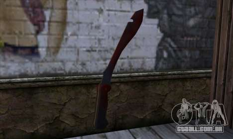 Bloody Machete from Far Cry para GTA San Andreas segunda tela