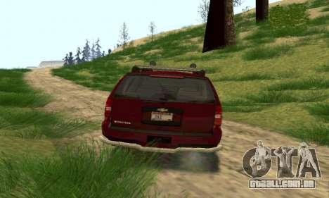 Chevrolet Tahoe Final para GTA San Andreas traseira esquerda vista