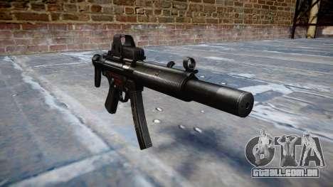 Arma MP5SD EOTHS CS b-alvo para GTA 4