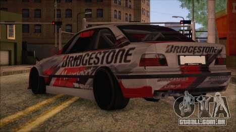 BMW E36 Coupe Bridgestone para GTA San Andreas esquerda vista