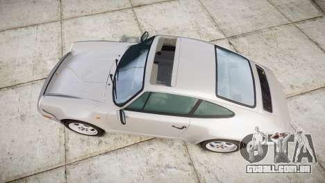Porsche 911 (964) Coupe para GTA 4 vista direita