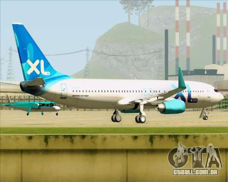 Boeing 737-800 XL Airways para GTA San Andreas vista direita