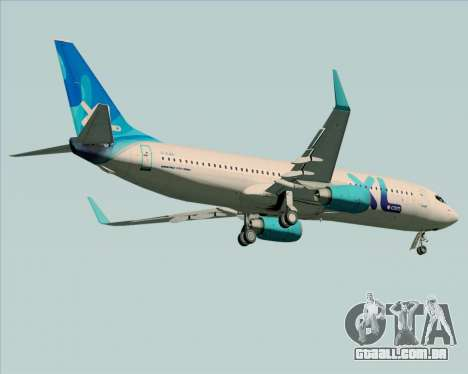 Boeing 737-800 XL Airways para GTA San Andreas vista traseira