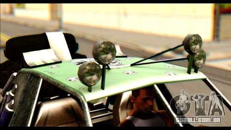 Buggy Fireball from Fireburst para GTA San Andreas traseira esquerda vista