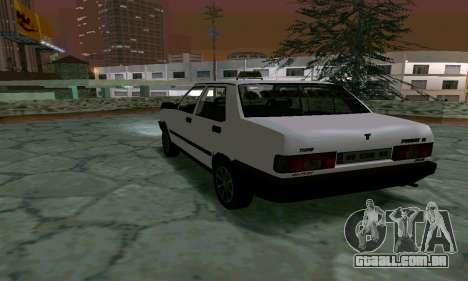 Tofas Sahin Taxi para GTA San Andreas vista direita