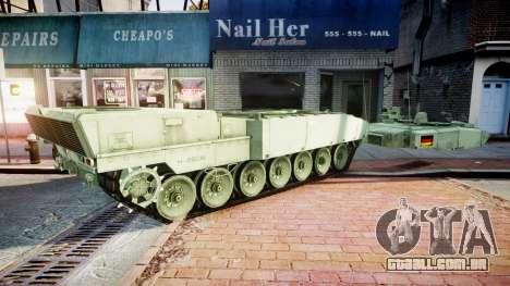 Leopard 2A7 DE Green para GTA 4 vista de volta