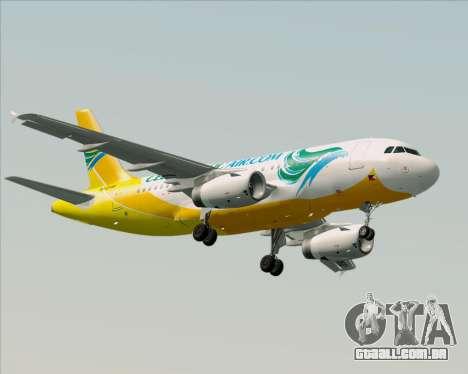 Airbus A319-100 Cebu Pacific Air para GTA San Andreas esquerda vista