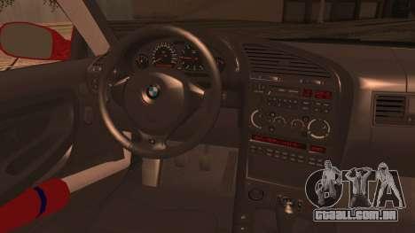 BMW E36 Coupe Bridgestone para GTA San Andreas traseira esquerda vista