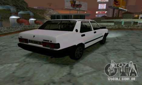 Tofas Sahin Taxi para GTA San Andreas traseira esquerda vista